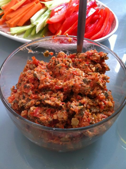 Olive, Tomato and Pumpkin Pate
