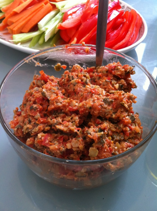 Olive, Tomato and Pumpkin Pate