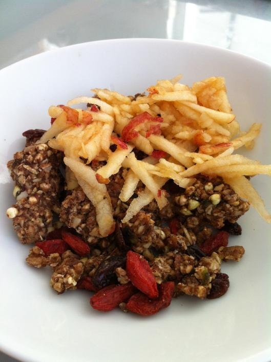 Raw food buckwheat granola
