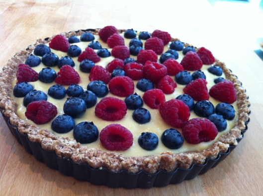 Raw food fruit tart