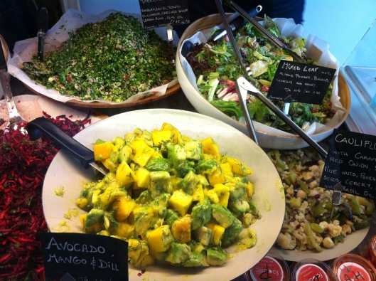 Selection of Foodilic raw food salads