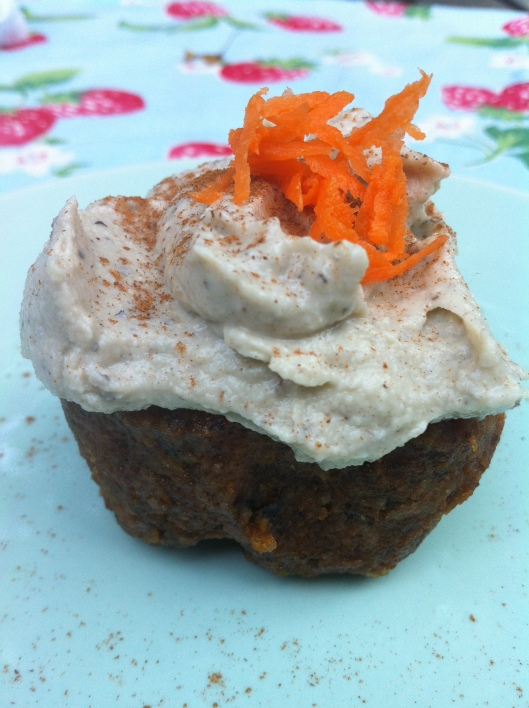 Raw food carrot cupcake