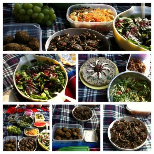Raw food potluck supper